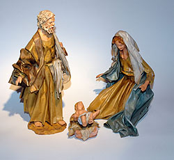 Natività in cartapesta cm 25